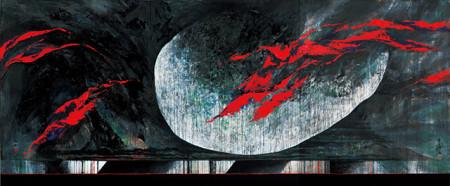 豊島弘尚『赤の大鴉と雨』2007年